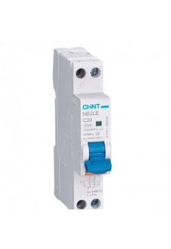 Диф. автомат NB2LE 1P+N 10А 30мА 1мод., х-ка С, электрон. тип А, 4.5кА