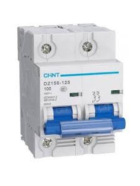 Автоматический выключатель DZ158 2Р 100А