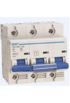 Автоматический выключатель DZ158 3Р 100А