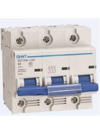 Автоматический выключатель DZ158 3Р 125А