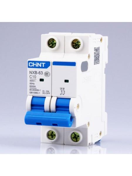 Автоматический выключатель NXB-63 2 Р 10 А 6 кА х-ка С
