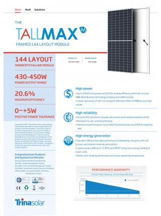 Солнечный фотоэлектрический модуль TRINASOLAR TSM-445DE17M(II)